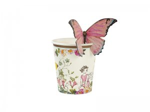 Talking-Tables-TSFAIRY-BFLYCUP-Bicchiere-di-Carta-USA-e-Getta-con-Farfalla-Tessuto-Multi-Colour-1