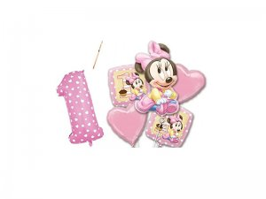 IRPot-BOUQUET-PALLONCINI-FOIL-PRIMO-COMPLEANNO-MINNIE-BABY-KIT-N-3-ADDOBBI-1