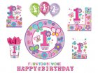 Amscan-Sweet-1st-Birthday-Girl-Palloncini-in-lattice-Pacco-da-6-2