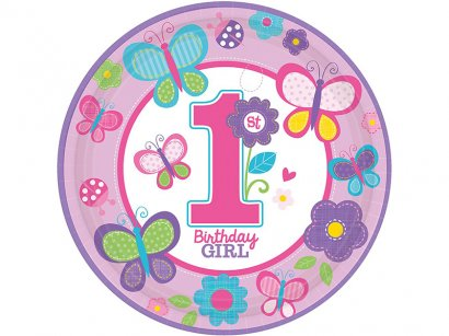Amscan-Sweet-1st-Birthday-Girl-Palloncini-in-lattice-Pacco-da-6-1