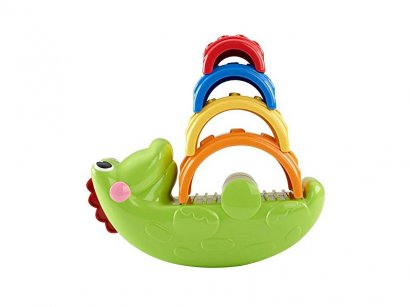 Fisher-Price-CDC48-Coccodrillo-Impila-e-Impara-1
